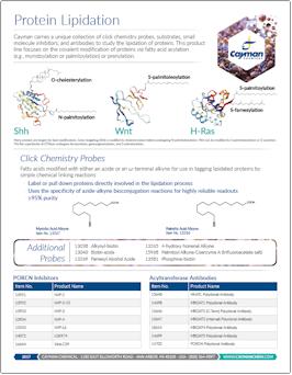 Cayman Protein Lipidation